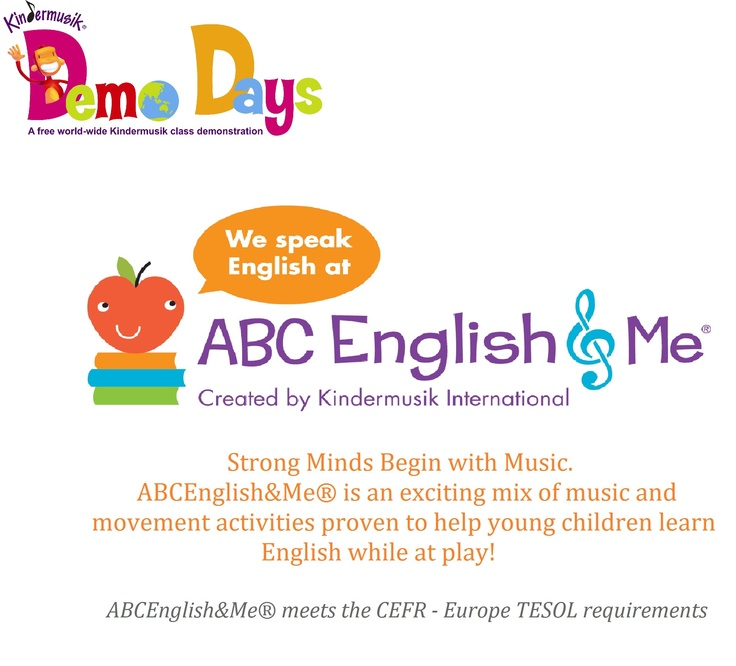 Kindermusik Asia joins Kindermusik communities around the world in celebrating ABC English & Me  Demo Days starting on May 12 in Hong Kong.
