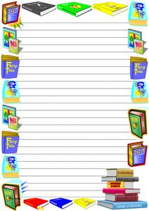 Free World Literacy Day Themed Lined Paper and Blank Paper with Borders