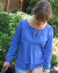 Blue Eclipse top great for covering up in the sun and helping to protect precious skin. Cool, comfortable, lightweight cotton top.  You'll feel and look great in this top! Designed in Australia, soft, high quality fabric.