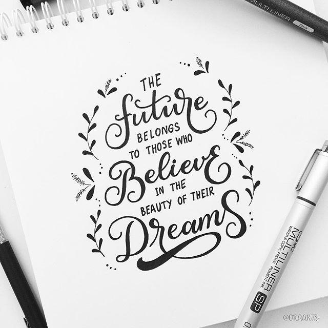 - Eleanor Roosevelt  Day 23 of #letteringwithpositivity . #orahandlettering . . #calligraphy #lettering #handlettering #handletteringnewbie #modernlettering #moderncalligraphy #dailylettering #letteringchallenge #dailychallenge #brushpen #goodtype #typespire #typegang #typography #typographyinspired #brushtype #type #handdrawn #handdrawntype #brushlettering #ink #handmade #handwritten
