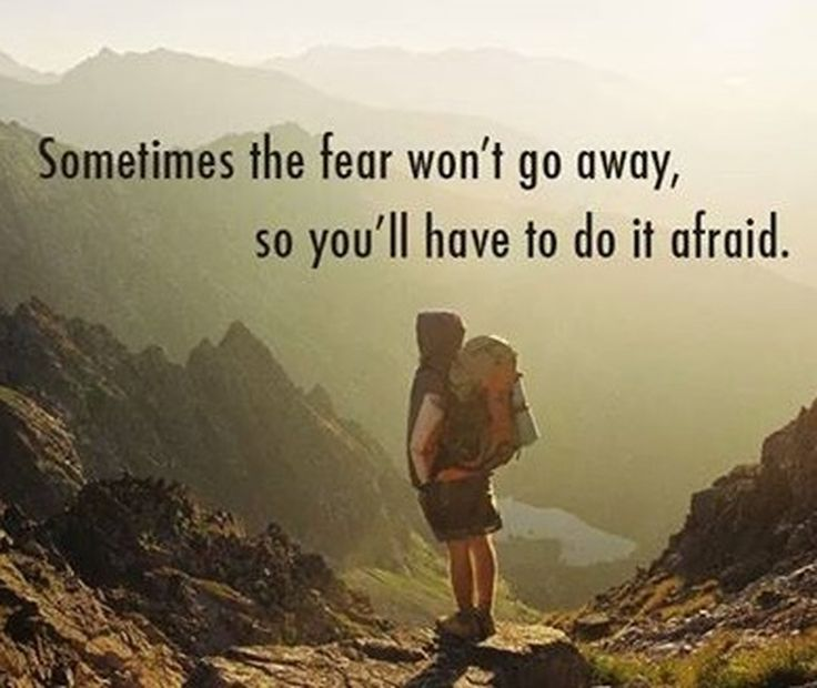Mean #Business - Yes...sometimes, you are going to have to do it afraid.