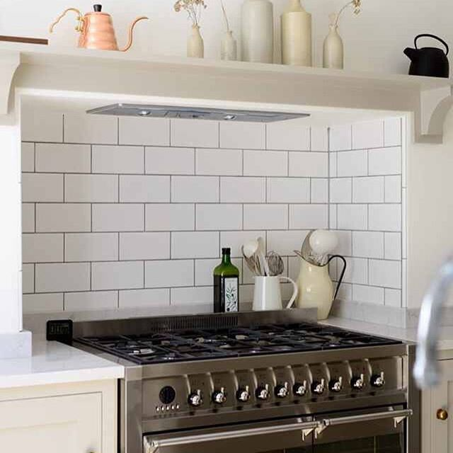 There's something so charming when a cooker fits just perfectly into an alcove…