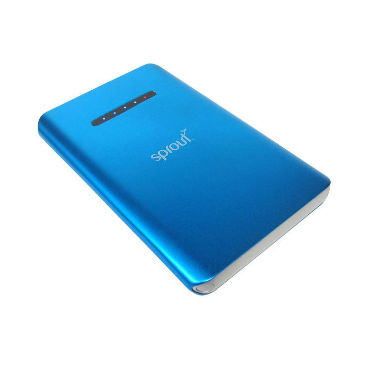 The Powerbank features an inbuilt 6000 mAh capacity battery to give your mobile phone, tablet, PDA, MP3 players, PSP or GPS navigator a much needed boost. $69.99. #sprout #freedomtogrow #powerbank #charger