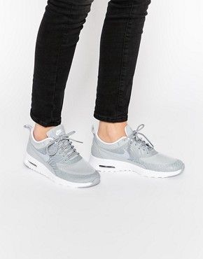 Nike Platinum Grey Print Air Max Thea Trainers