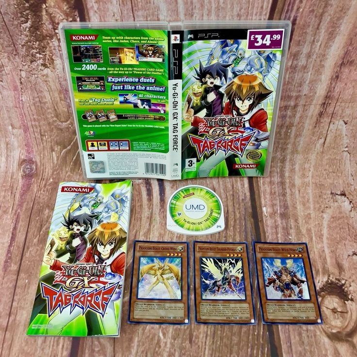 Sony PSP Game YU-GI-OH! GX TAG FORCE Complete with Original LTD EDT game Cards