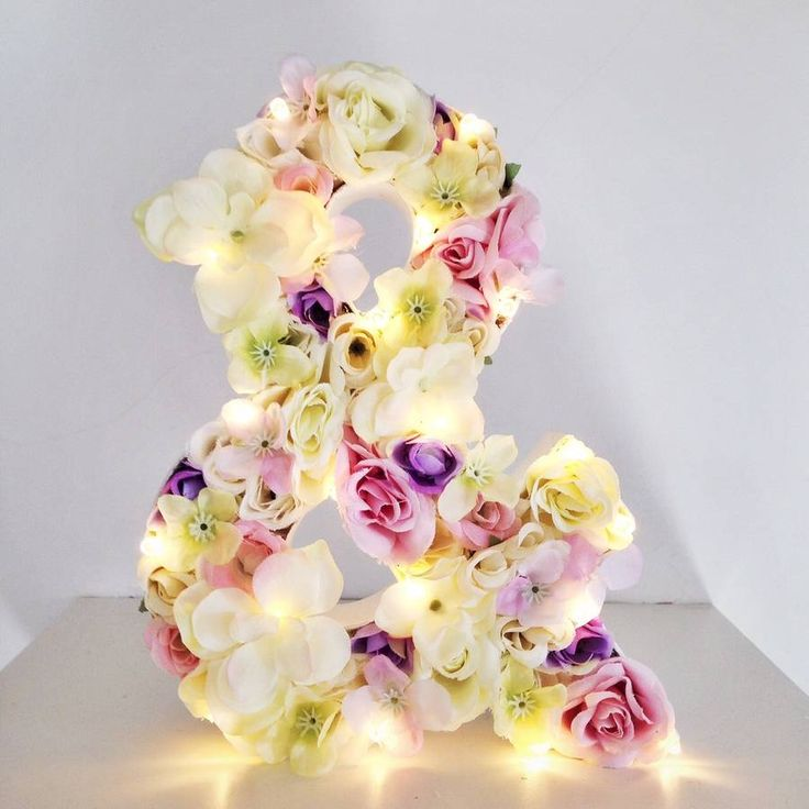 Handmade Flower Letter Light, beautiful decoration