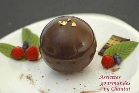 Sphère chocolat pour un dessert surprise