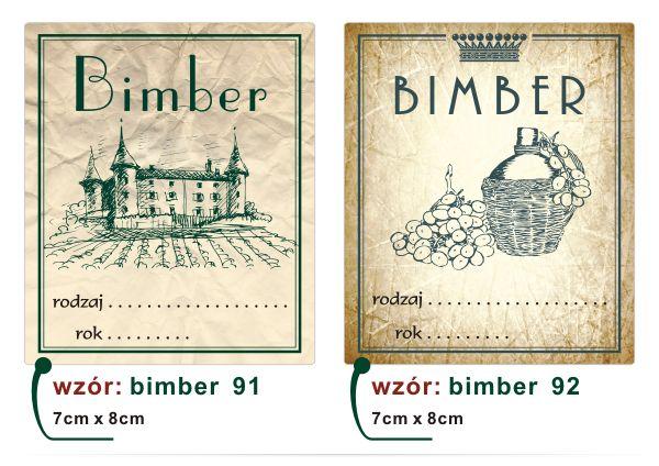 Naklejki Etykiety na WINO NALEWKI Wina BIMBER LUX - 5064259844 - oficjalne…