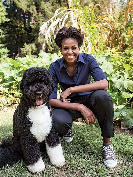 Never been a first lady with a fitness profile...gardening, working out with kids, such a great role model for anti-obesity...