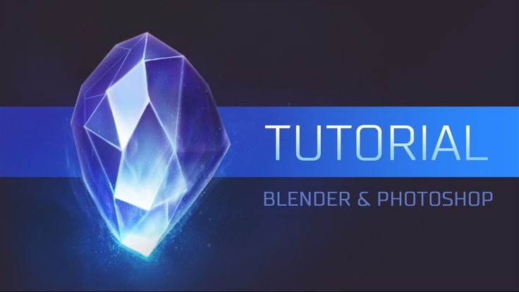 [Tutorial] How to create a Crystal Icon for a Game in Blender & Photoshop