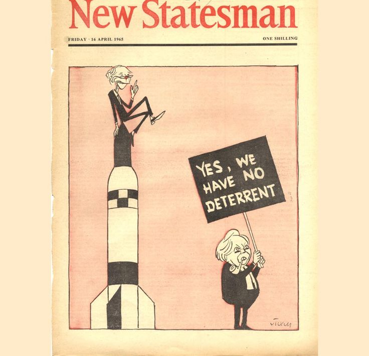 New Statesman, April 1965. (Cover cartoon of Sir Alec Douglas Home and Harold Wilson by Vicky)