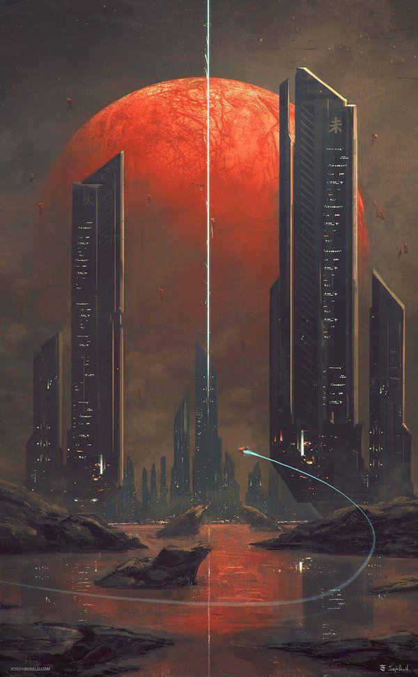 Kasai арт, Sci-Fi, планета, Юпитер, Европа
