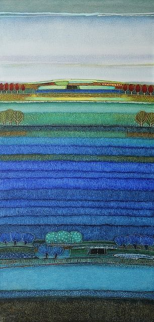 686 - I spent a lot of my time looking at blue - 60x120cm | Rob van Hoek  Landscapes
