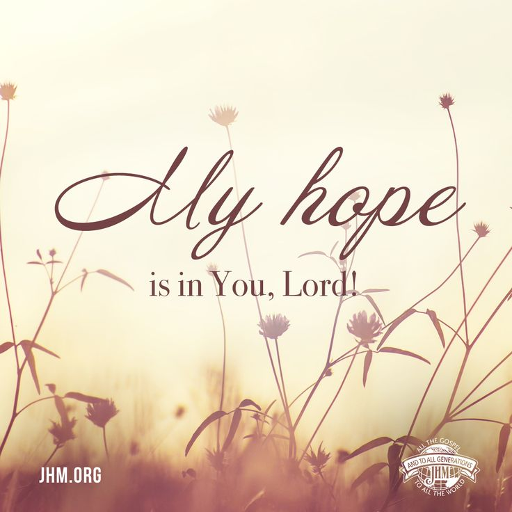 I am a fervent believer in God's Word and will stand my ground against the spirit of fear and doubt. I will wait with faith and hope for God's supernatural provision. My hope is in You, Lord!