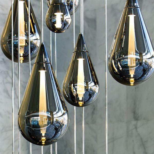 Fluid – LED lit pendant lighting. Available through the Dubai based company Beau McClellan - Dpagesblog