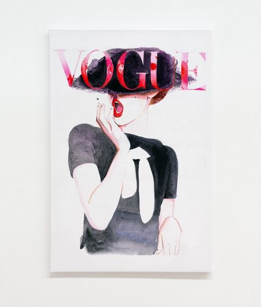 Vogue Cover Germany Canvas Print-designed by Catherine Parr sold by Home @ Abode