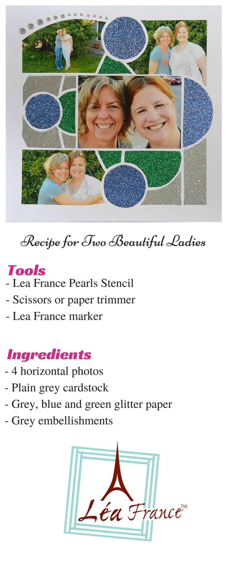 Scrapbook ideas many pictures - European Scrapbooking Page Created By Karen Morley Using Pearls Lea France Stencil If You