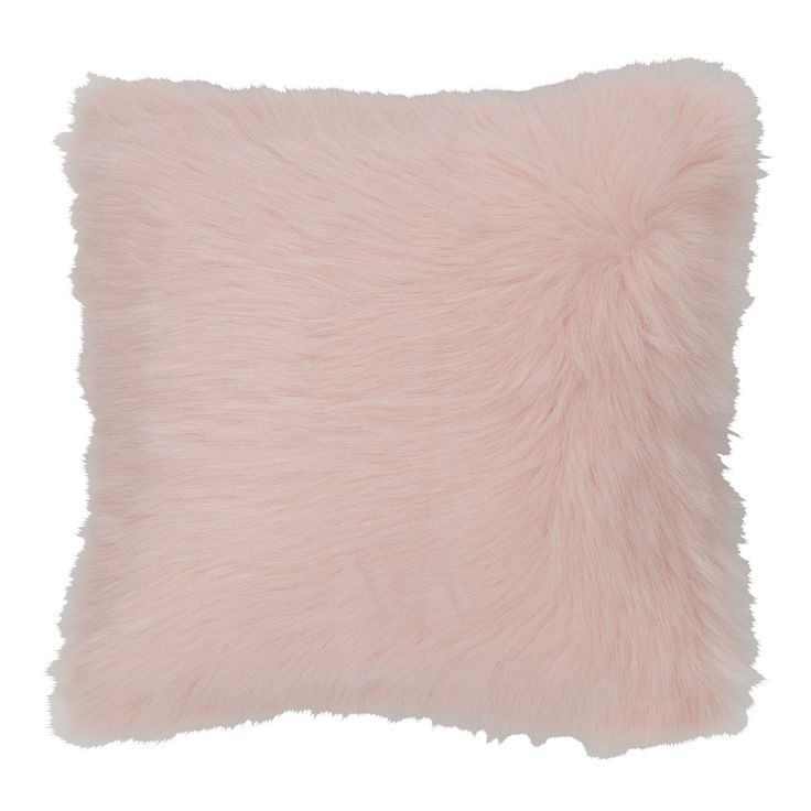 Roze OUMKA kussen in imitatiebont ... -