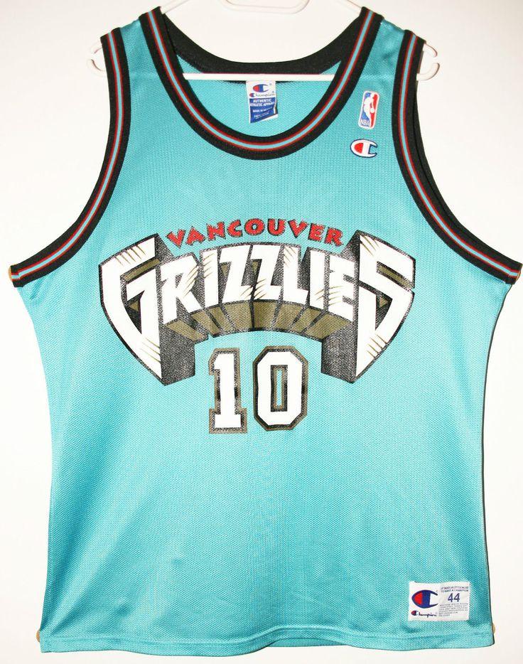 ee1092599 Champion NBA Basketball Vancouver Grizzlies 10 Mike Bibby TrikotJersey Size  44 - Größe . ...