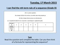 nth term rule of a sequence - Resources - TES