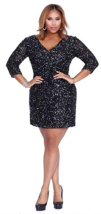 30 Plus Size Sequin Dresses - Plus Size Party Dress - Plus Size Cocktail Dress #plussize #alexawebb #dress