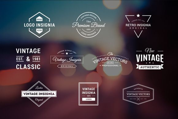 10 Retro Logos Vol. 2 by Piotr Łapa on @creativemarket