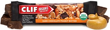 Clif Organic Chocolate and Peanut Butter Trail Mix Bar. $1.99. Clif combines organic with restoring proteins to help kick start someone before or after a workout