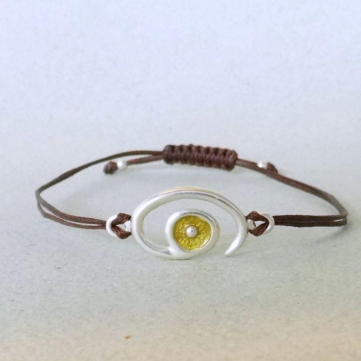 GOOD LUCK BRACELET, silver enamel bracelet, christmas gift, evil eye bracelet, gift for her, christmas gift idea, good vibes jewelry, anklet by OniroJewelry on Etsy