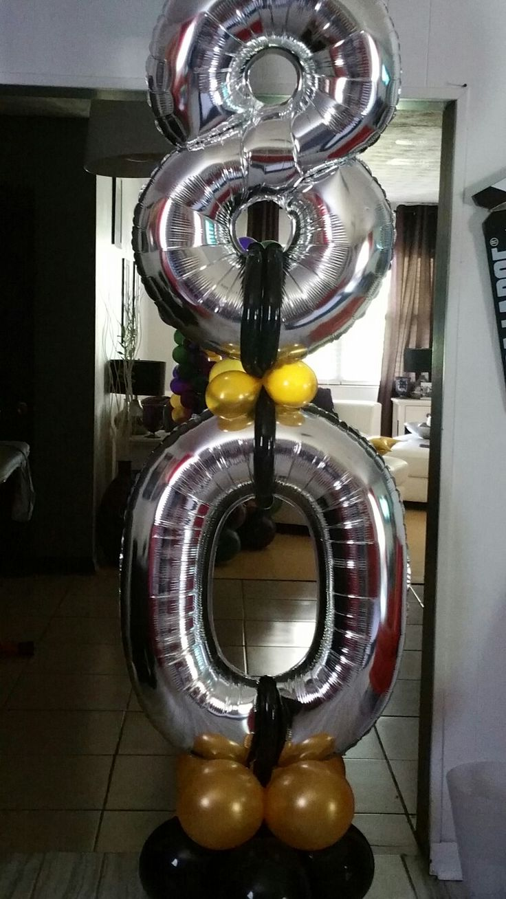 Number balloon column by events car lisa