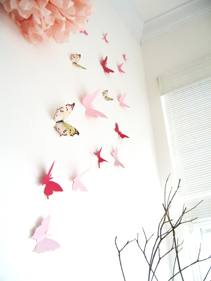 15 3d butterfly wall art assorted multi color butterflies for 3d butterfly decoration