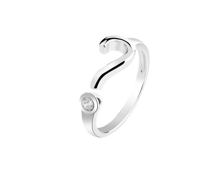 Pierścionek srebrny z cyrkonią | Apart