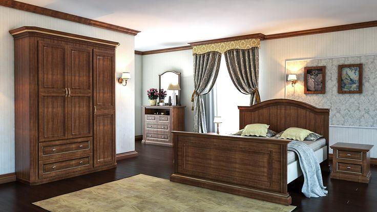 Классическая мебель для современной спальни от Деметра Вудмарк.