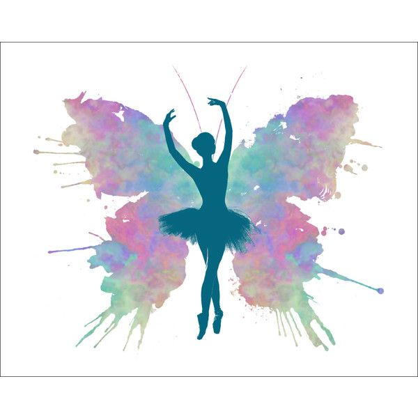 Ballerina Butterfly Watercolor Art Print 8 x 10 Ballet Dancer Girl Dancing Silhouette Painting Print Wall Decor Home or Office (1.305 RUB) found on Polyvore featuring home, home decor, wall art, water color painting, dance paintings, water colour painting, matte painting and silhouette wall art