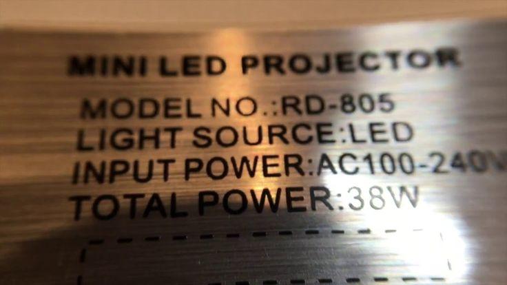 Test #DBPOWER Mini Projektor