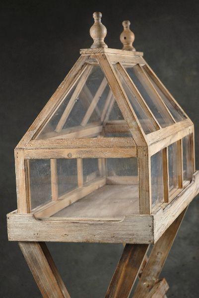 wood and glass indoor garden~terrarium