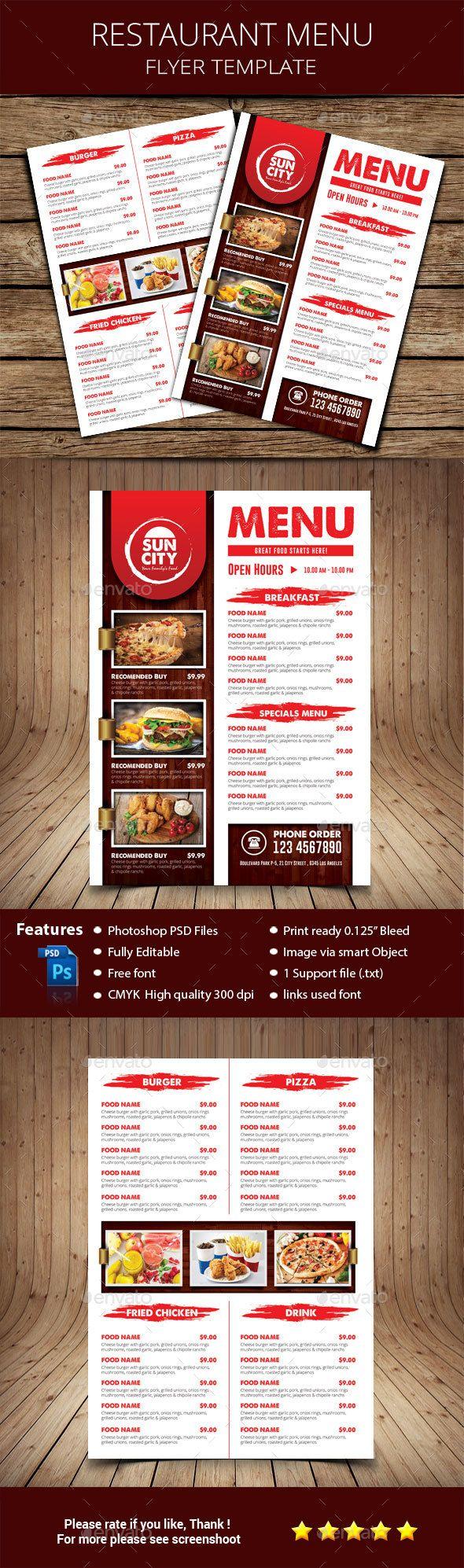 #Rustic #Restaurant #Menu Flyer - Restaurant Flyers