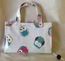 owl oilcloth book bag