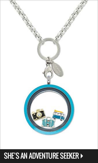 Large free to be me teal face locket, 4mm silver rolo chain 55-60cm, Vintage bus, Suitcase, & Gold camera Charms $70