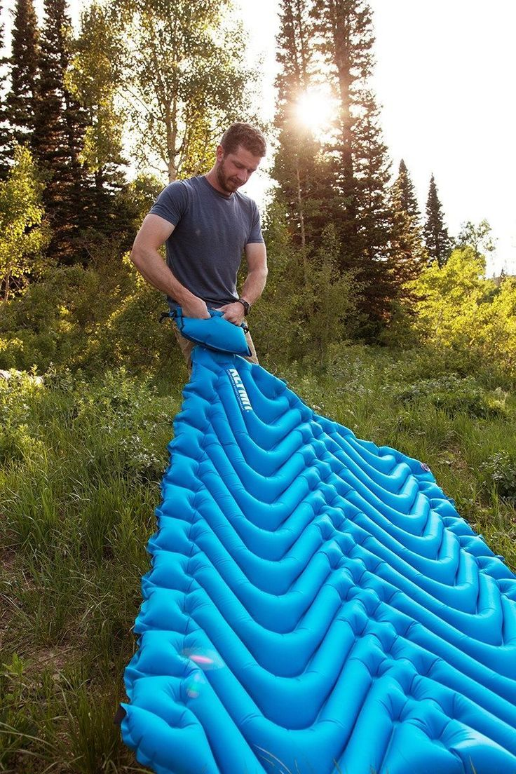 Camping Sleeping Pad - Sleeping pad that's double the width. Couples camping. Klymit's Double V www.bluepika.com/... #CampingSleepingPad