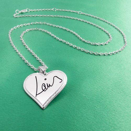 One Direction 'Louis Signature' Heart Necklace One Direction Official Jewelry,