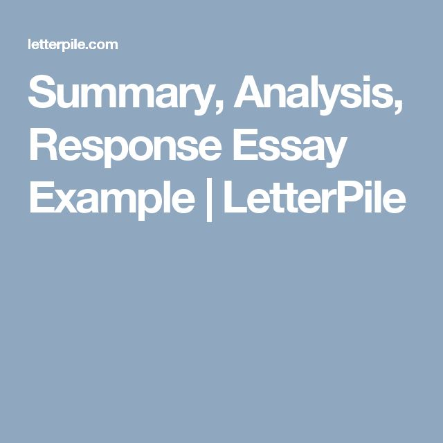 summary response essay examples resume template and cover letter