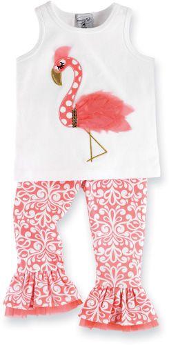 Mud Pie Baby - Mud Pie Flamingo Top/Pant - Lollipopmoon.com only $37.00 - New Items