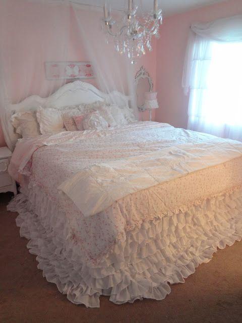 Not So Shabby - Shabby Chic: My new ruffly bedding