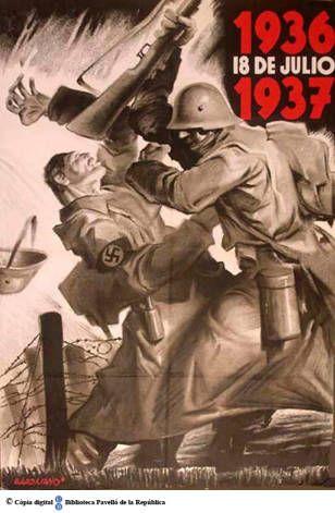 18 de julio 1936-1937 :: Cartells del Pavelló de la República (Universitat de Barcelona)