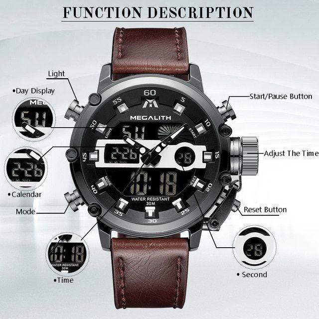 Mens Fashion Sports Quartz Watches Watches For Men Wristwatch Men Digital Wrist Watch