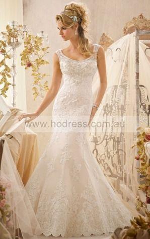 Square Sleeveless Mermaid Buttons Floor-length Wedding Dresses afbf1001--Hodress