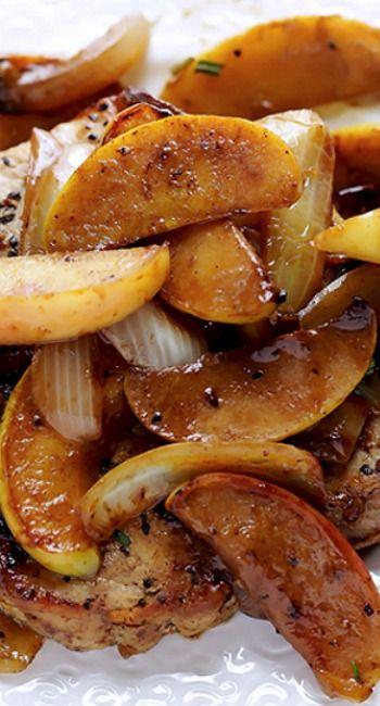 Apple Cinnamon Pork Chops dinner.