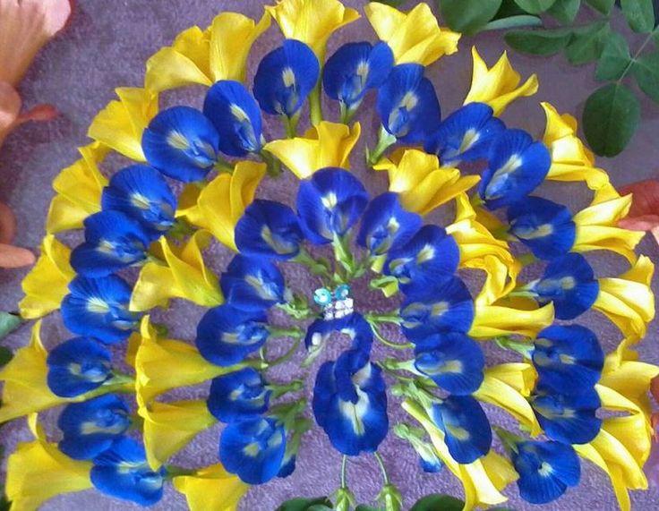 Unique Rangoli Designs with Flowers