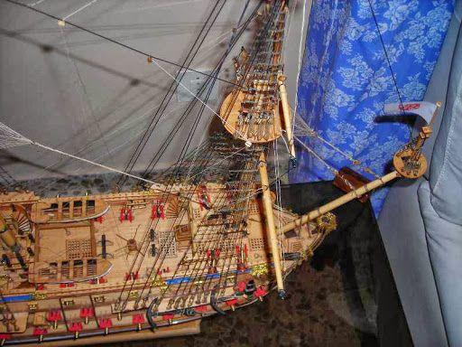 Maqueta Galeon San Felipe con vitrina y - www.cambalache.es - Tiempo Libre Modelismo y maquetas