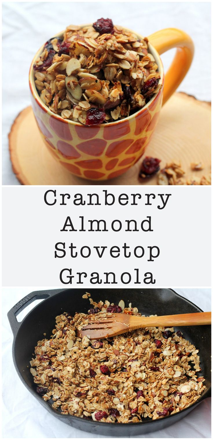 Cranberry Almond Stovetop Granola - Food, Pleasure, and Health